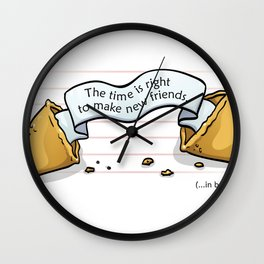 Fortune Cookie Wall Clock