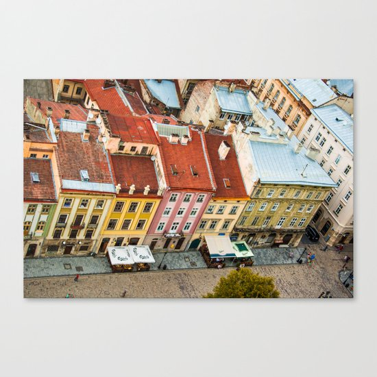 the rooftops of the city Canvas Print