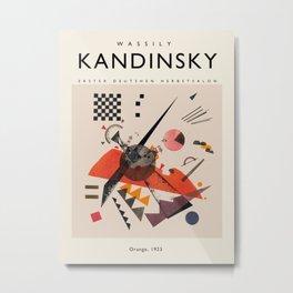 Exhibition poster-Wassily Kandinsky-Orange, 1923. Metal Print