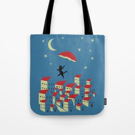 Upton The Cat And His Evening Adventures Tote Bag