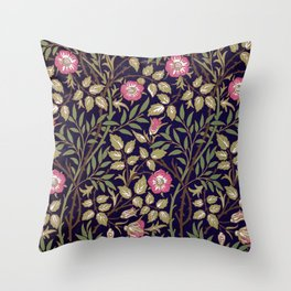 William Morris Sweet Briar Floral Art Nouveau Throw Pillow