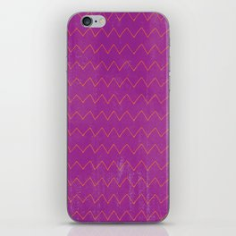 Abstract geometrical magenta pink orange watercolor chevron iPhone Skin