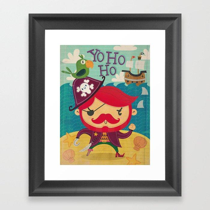 The pirate Yo ho ho Framed Art Print