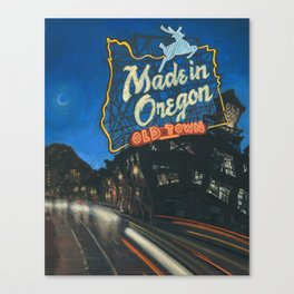 Made in Oregon Canvas Print
