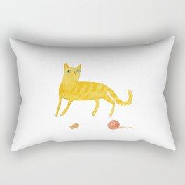 Nice Ginger Cat Rectangular Pillow