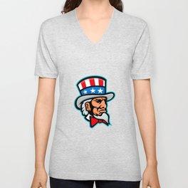 Uncle Sam Mascot Unisex V-Neck