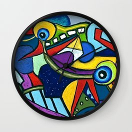 Pterodactyl Smile Wall Clock