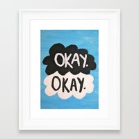the fault in our stars Framed Art Prints featuring The Fault in Our Stars. by Emma Morrison