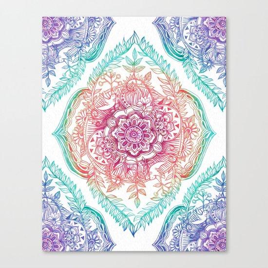 Indian Ink - Rainbow version Canvas Print