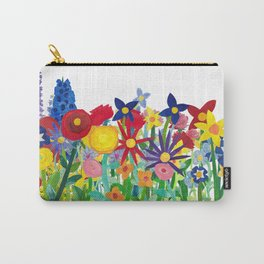 Flowery Bouquet Carry-All Pouch
