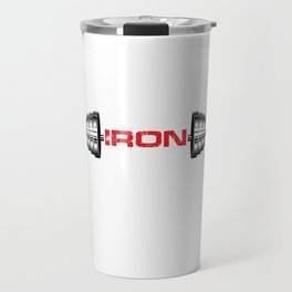 Training Weightlifter Fitness Bodybuilder Gym Me Myself And Iron Barbell Gift Travel Mug