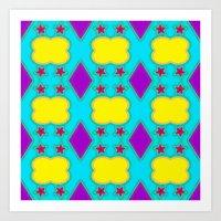Star Diamond Pattern Art Print
