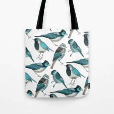 pale green birds Tote Bag
