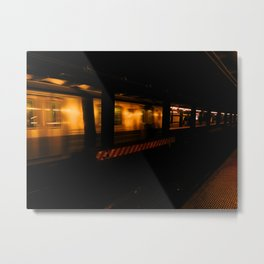 Subway Tunnel Metal Print