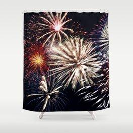 celebration fireworks Shower Curtain