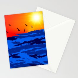sun set A Stationery Cards