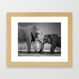 A Special Elephant Moment Framed Art Print