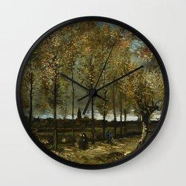 Van Gogh -Lane with Poplars near Nuenen Wall Clock