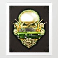 VW Mk - Rat Poison Tuning Car Art Print