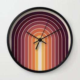 Gradient Arch - Sunset Wall Clock