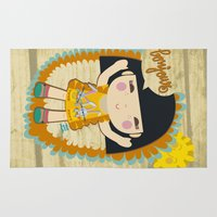 bonjour Area & Throw Rugs featuring Bonjour by maru y su cabeza