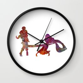 Rapunzel and partner 02 in watercolor Wall Clock