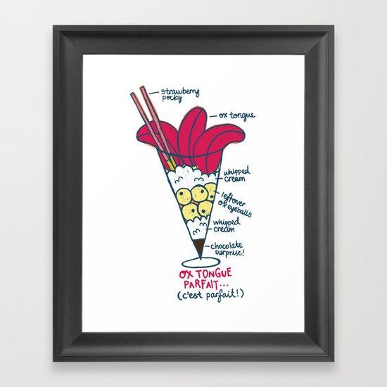 Ox Tongue Parfait Framed Art Print