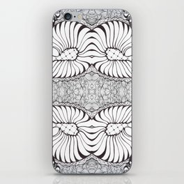 Black and White Zen Doodle iPhone Skin
