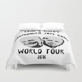Biden and Kaine's Harmonica Jam Band Tour 2016 Duvet Cover