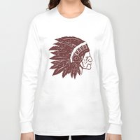 indian Long Sleeve T-shirts featuring Indian by Stay Awesome