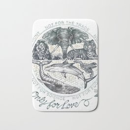 only for love Bath Mat