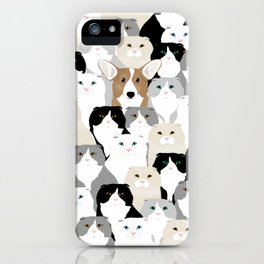 Cats and Dog iPhone Case