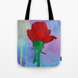 Painted Rose Tote Bag
