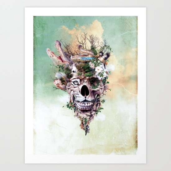 Nature Skull II Art Print