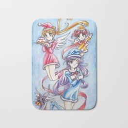 Sailor Senshi Christmas Party Bath Mat