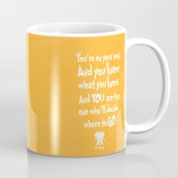 dr seuss Mugs featuring dr seuss: you're on your way by studiomarshallarts