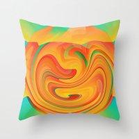 desert Throw Pillows featuring Desert by Casey