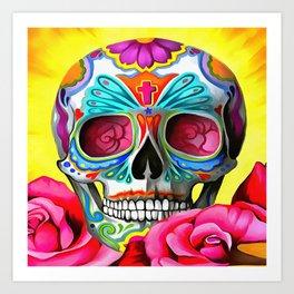 Candy Skull Art Print