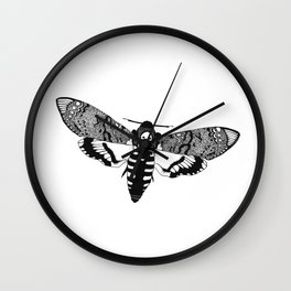Deaths Head Moth Wall Clock
