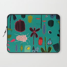 bugs and insects green Laptop Sleeve