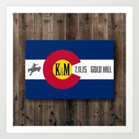 karu kara Art Prints featuring Kara & Matt 7/11/15 by Art Lahr