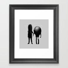 Couple B&W Framed Art Print