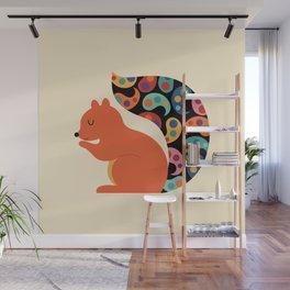 Paisley Squirrel Wall Mural