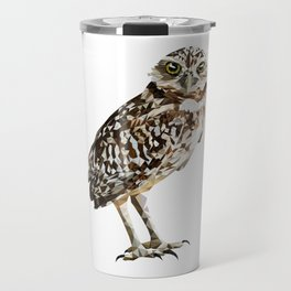 Low Poly  Burrowing Owl Travel Mug