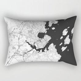 Portland Maine Map Gray Rectangular Pillow