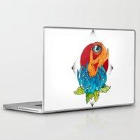 hamsa Laptop & iPad Skins featuring Hamsa by missfortunetattoo