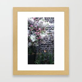 At the Mayfair florist III Framed Art Print