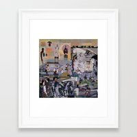 theater Framed Art Prints featuring Theater by NouriHeba