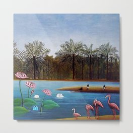 The Flamingos by Henry Rousseau Metal Print