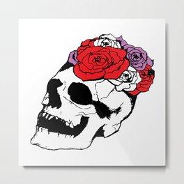 skull with broken teeth Metal Print